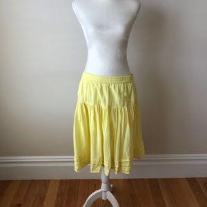 Gap Yellow Peasant Skirt